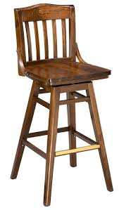 bar stools that swivel bar stool 2454w sv swivel wood bar stool school house wood