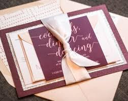 Layered Wedding Invitations Wedding Invitations U0026 Event Stationery By Juliehanandesign On Etsy