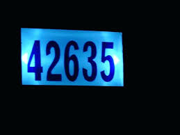 light up address sign solar powered address numbers light up address signs solar powered
