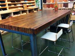 kitchen desk chairs butcher block dining table industrial butcher
