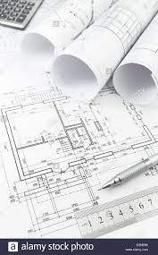 stock floor plans architectural background with floor plans rolls of technical
