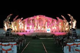 reception stage flower sets decoration in hyderabad shobha u0027s
