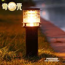 villa garden pillar light l outdoor lighting l post deco
