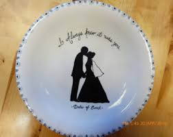 bridal shower autograph plate bridal shower plate etsy