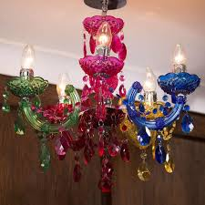 Marie Therese Crystal Chandelier Marie Therese 5 Light Dual Mount Chandelier Multicoloured