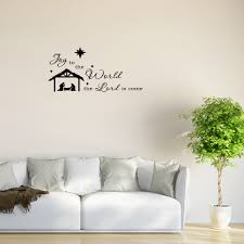 wall decal quote joy to the world the lord is come holiday wall decal quote joy to the world the lord is come holiday nativity scene w78