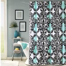 curtains black ruffle shower curtain gray bathroom window