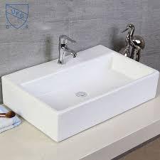rectangle bathroom ceramic above counter art basin kitchen