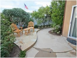 backyards impressive fascinating concrete backyard landscaping