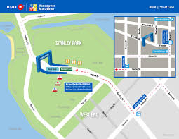 Vancouver Skytrain Map Bmo Vancouver Marathon Course Info U0026 Map
