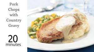 pork chops with country gravy recipe myrecipes
