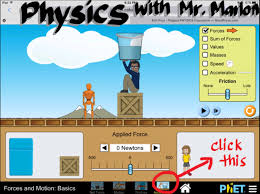 s3 virtual lab force and motion flipped science classroom