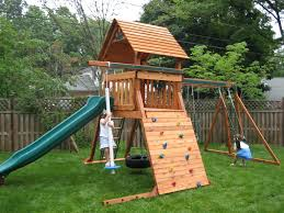 big backyard springfield ii wood swing ideas including playground