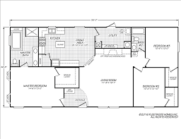 Mobile Home Floor Plans by Star Mobile Homes L P Eagle 28563x Fleetwood Homes Floor