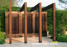 Garden Privacy Screen Ideas Outdoor Privacy Wall Us1 Throughout Panels With Plan 1