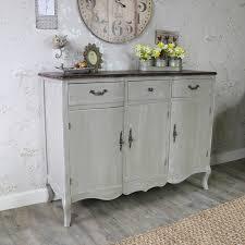 large ornate grey triple sideboard buffet unit french grey range