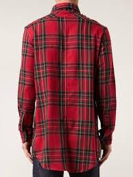 Fear Of God Tartan Print Shirt In Red For Men Lyst