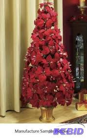 fiber optic poinsettia tree dress up your h wiw christmas