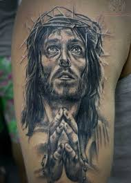 jesus head and praying hands tattoo designs photo 3 2017 real