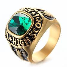 high school senior rings high school dxd on graduation rings retro titanium steel