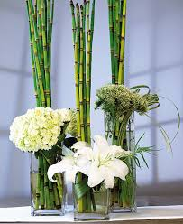Candle Holders Decorated With Flowers Wedding Reception Decoration Centerpiece Bamboo Flower Vase