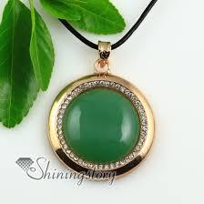 round stone necklace images Round rose quartz amethyst jade cat 39 s eye semi precious stone jpg