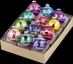 4001230 shiny brite flocked signature balls asst 12 retired