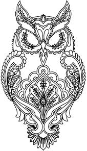 Free Difficult Coloring Pages For Adults Coloring Pages Owl