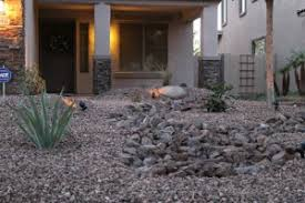az front yard desert landscape design