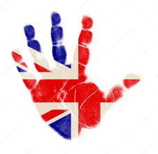 Englands Flag England Flag Palm Print Isolated On White Background U2014 Stock Photo