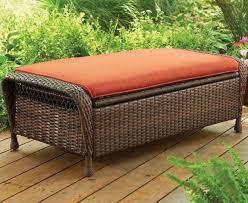 Wicker Patio Furniture Ebay Footstool And Ottoman Outdoor Patio Wicker Storage Seat Cushion