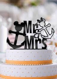 anchor wedding cake topper disney nautical mickey and minnie anchor wedding cake topper