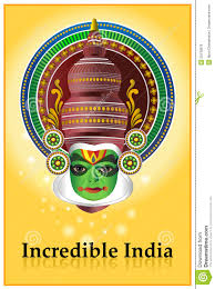 incredible india kathakali poster editorial stock photo image