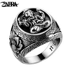 men rings silver images Thailand buddha elephant ring authentic 100 925 sterling silver jpg