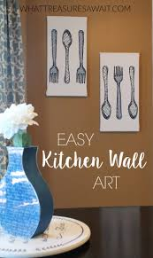 easy kitchen wall art from hand towels what treasures await