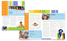 How To Design A Newsletter Template In Word learning center elementary school newsletter template word
