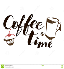 coffee time hand drawn vector artistic illustration for design