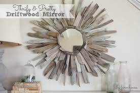 thrifty u0026 pretty diy driftwood mirror city farmhouse