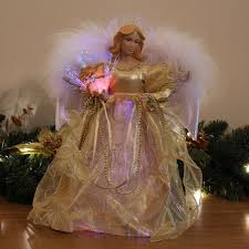 Black Angel Christmas Tree Topper Uk by Werchristmas Fibre Optic Angel Decoration Christmas Tree Top