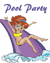 pool party free printable invitations templates with water slide