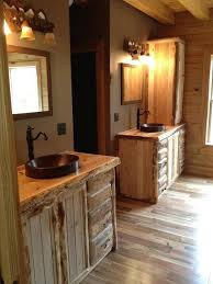 Rustic Bathroom Vanity Cabinets by Custom Rustic Cedar Bathroom Vanity By King Of The Forest