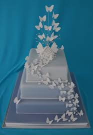 butterfly wedding cake butterfly square wedding cakes wedding cakes by cakes beyond