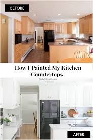 what type of paint to use on formica cabinets how i painted my kitchen countertops andie mitchell
