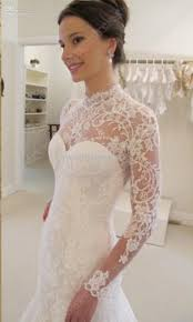 Wedding Dress Lace Sleeves 2016 Cheap Backless Mermaid Wedding Dresses High Neck Long Sleeves