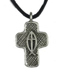 jesus fish necklace with jesus fish necklace pewter