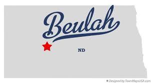 beulah dakota map map of beulah nd dakota