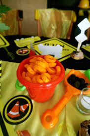 Construction Themed Centerpieces by Kara U0027s Party Ideas Construction Themed Birthday Party