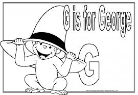 curious george free coloring pages coloring