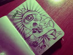 satanic sleeve tattoo designs on paper pictures to pin on