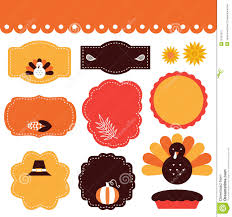 thanksgiving tags and elements set stock vector image 35721010